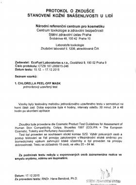 Маска Хлорелла Документ №2