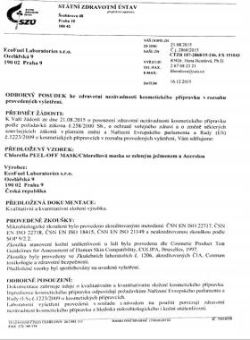 Маска Хлорелла Документ №5
