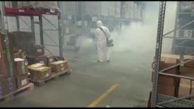 Дезинфекция горячим туманом специалистом Экологической клиники Калинина ECOconnect