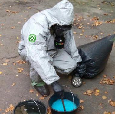 Нейтрализация ртутного загрязнения (ртутная безопасность) Фотоматериалы нашей работы Фото №1
