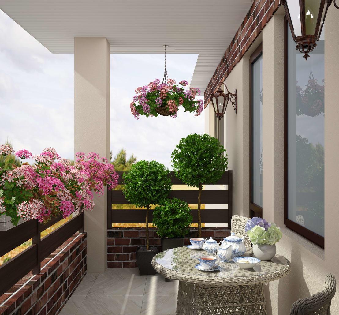 Цветочные композиции на балконе и террасе фото